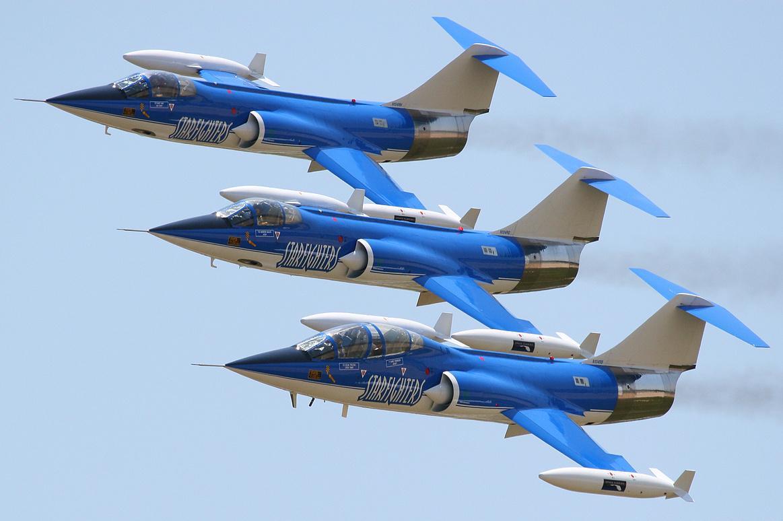 Three F-104 Starfighters